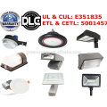 DLC ETL 5 years warranty lowest price factory 130lm/w led solar light photocell sensor led dusk to dawn led yard light